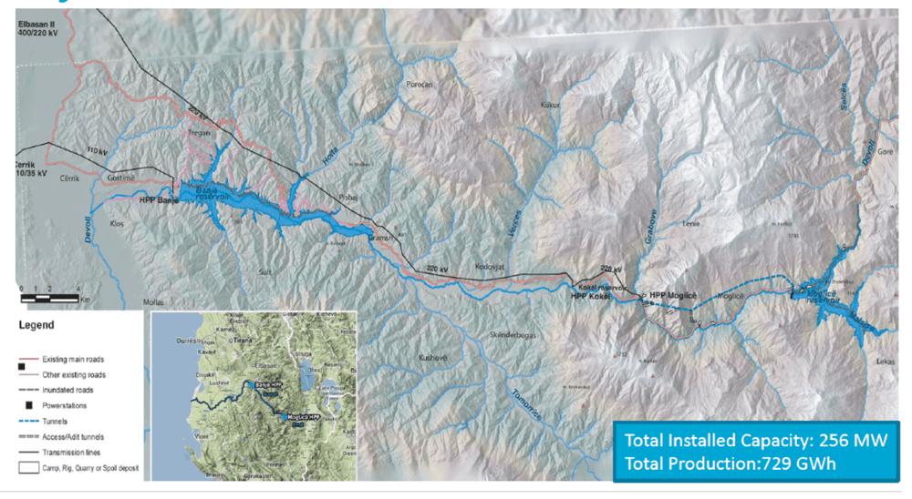 map of banja dam site