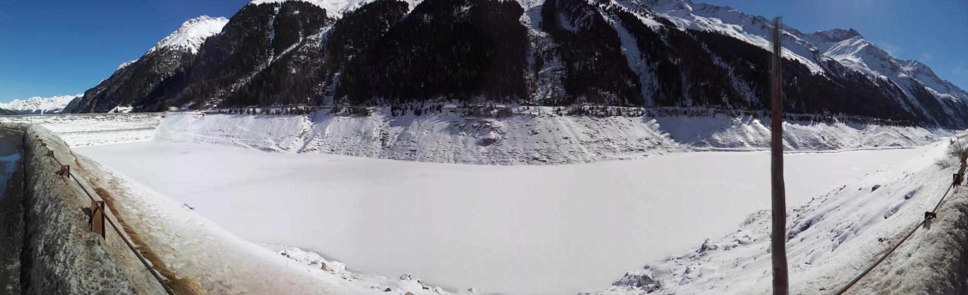 Gepatsch Reservoir Austria in Winter